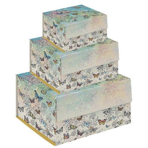 Bug Art Collection Butterfly Gift Box Set of 3